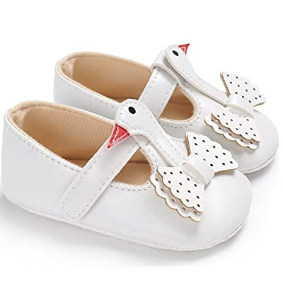 Infant Baby Girl's Swan Comfort Sole Casual Mary Jane Shoes Flats