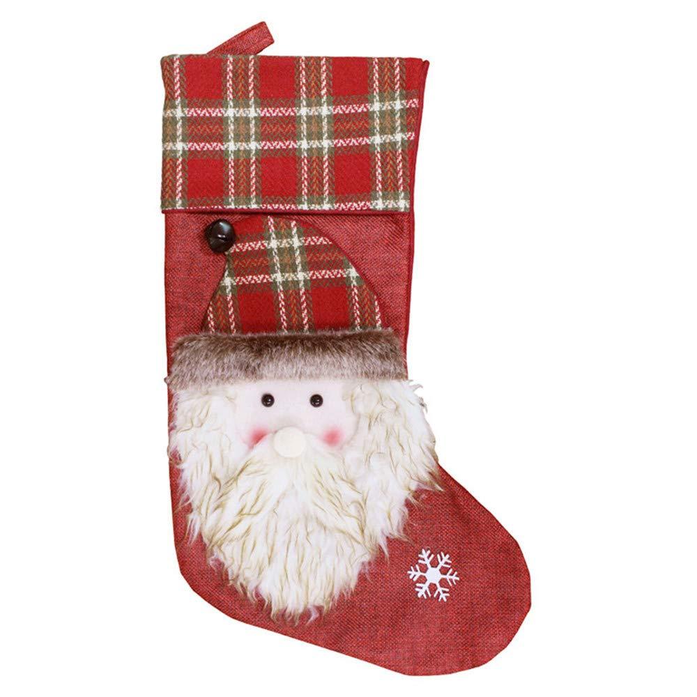 PORCN Large Plaid Christmas Socks Child Christmas Decoration Gift ...