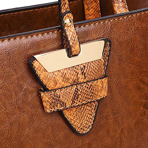 Tote TSDBG209340 Women's AalarDom Casual Bags Crossbody Black Pu Brown Bags 5FTTgnq