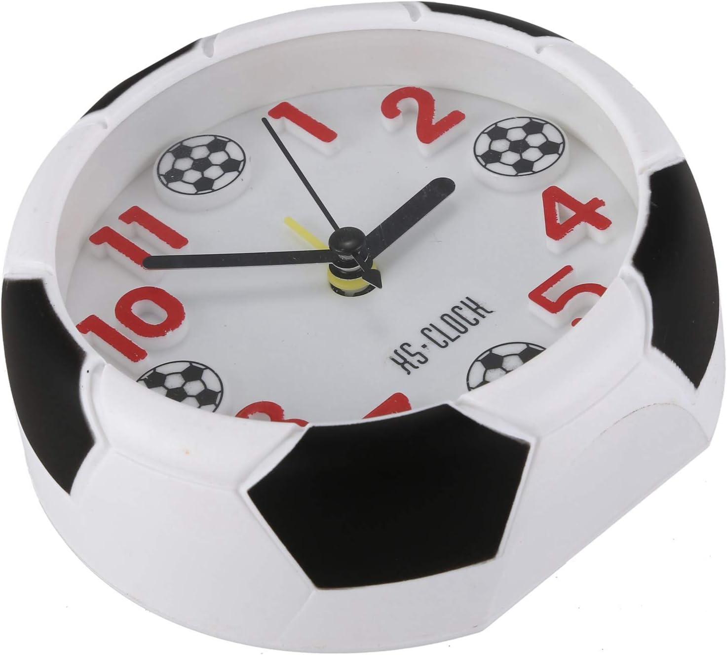 Naliovker Football Reveil Bureau Reveil Etudiant Bureau Reveil Horloge Ronde reveil numerique Horloge de Table numerique pointeur Horloge