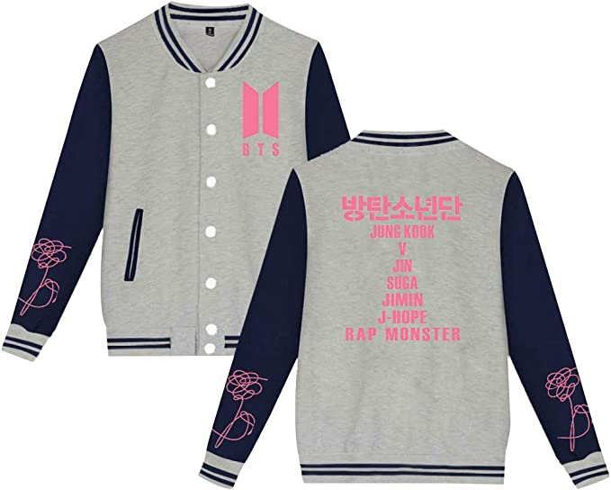 BTS Map of The Soul Persona Chaqueta Bomber Beisbol Hombre ...