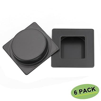 Sliding Closet Door Handle Black Flush Handle 6 Pack Homdiy Mc009