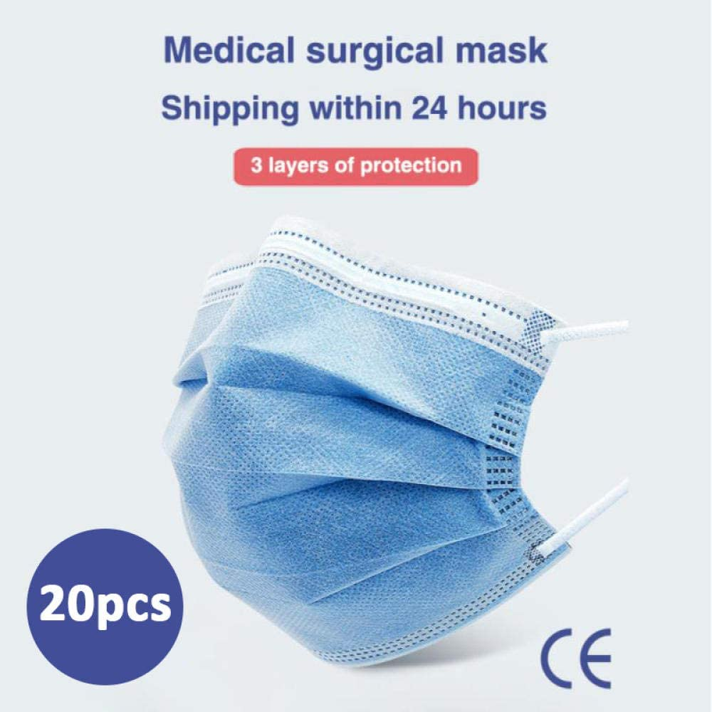 WANGBW Desechable a Prueba de Polvo Anti PM2.5 Cuidado Dental Higiene elástica-20PCS