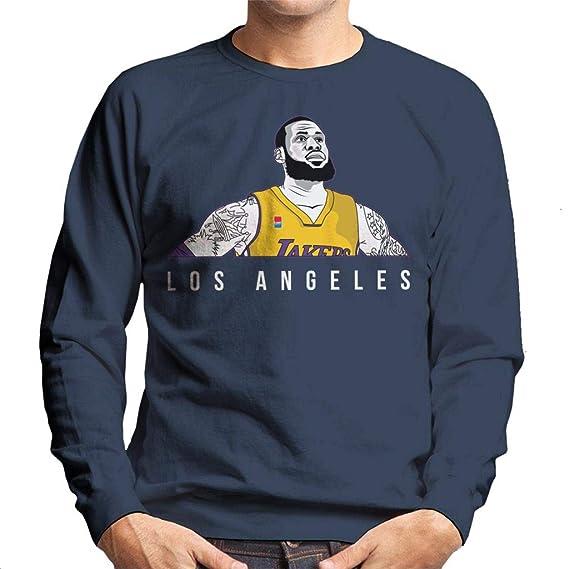 578049f3616 Cloud City 7 Lebron James of The Los Angeles Lakers Men s Sweatshirt   Amazon.fr  Vêtements et accessoires