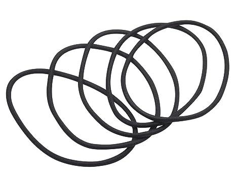 6 X Extra Large Size Black Jeresey Ponio Elastics Hair Bands Unisex Super Strong