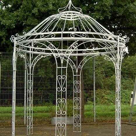Cenador, metal hierro Carpa, Carpa, Rank Carpa, Carpa Estable Amalia Diámetro 250 cm (Hierro Blank): Amazon.es: Jardín