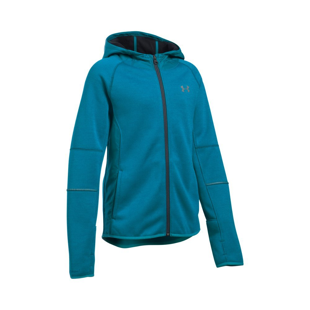 Under Armour Girls' Swacket, Teal Blast/Teal Blast, Youth Small