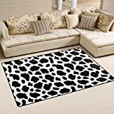 WOZO Funny Cow Print Area Rug Rugs Non-Slip Floor Mat Doormats for Living Room Bedroom 60 x 39 inches Review