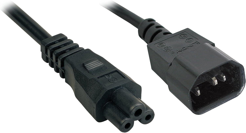 LINDY 30400 2m IEC C14 an IEC C5 Netzkabel schwarz