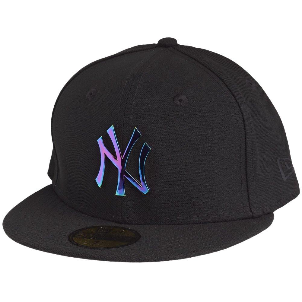 New Era NY Yankees Metallic Rainbow Badge Black 5950 Cap