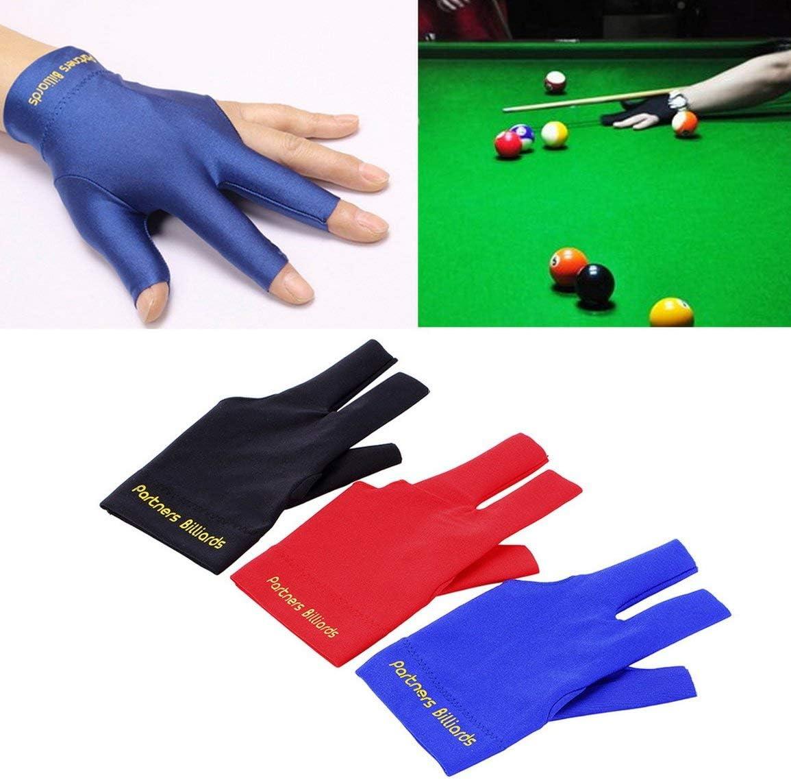 Fantasyworld Professional Sport Comfortable Spandex Snooker Billiard Cue Glove Pool Left Hand Open Three Finger Accessories