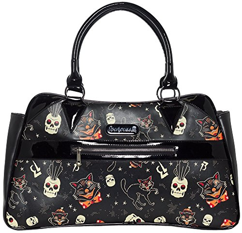 Halloween Purses - Sourpuss Black Cats Camille Purse