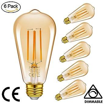Emotionlite LED Edison Lampe,Dimmbare LED Filament Glühlampen,4W(40W  Equivalent),
