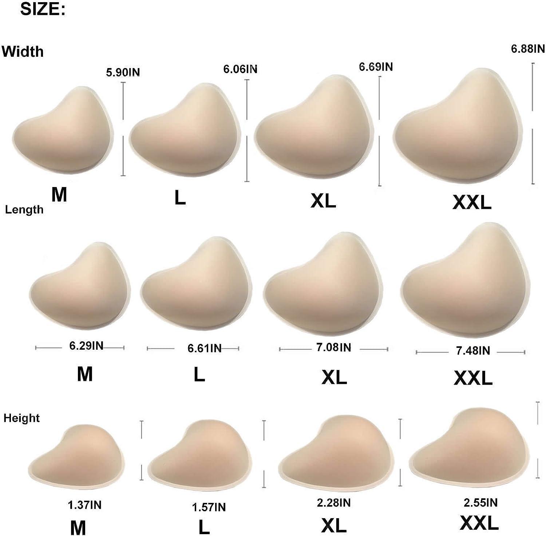 BIMEI Asymmetrical Shape Foam Breast Form3