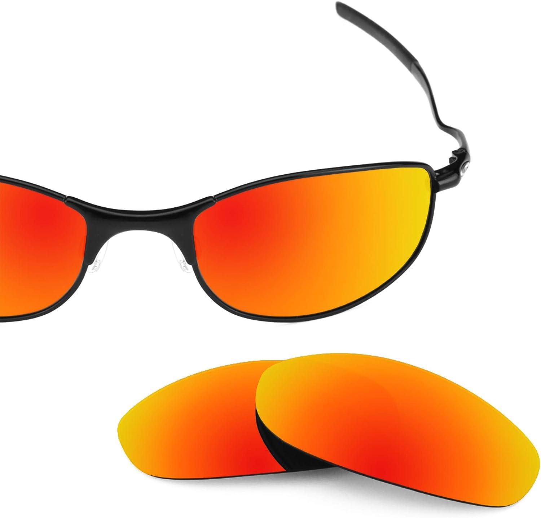 Revant Verres de Rechange pour Oakley Tightrope - Compatibles avec les Lunettes de Soleil Oakley Tightrope Rouge Feu Mirrorshield - Polarisés