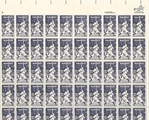 (Babe Ruth Sheet of 50 x 20 Cent US Postage Stamps Scott 2046)