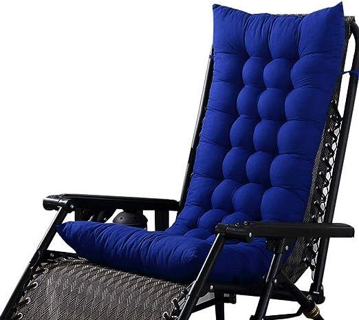 Marbeine - Cojín de Asiento para sillas, sillones o tumbonas de jardín, terraza Gruesa para Exterior, Funda de 125 x 48 x 8 cm, Azul: Amazon.es: Jardín