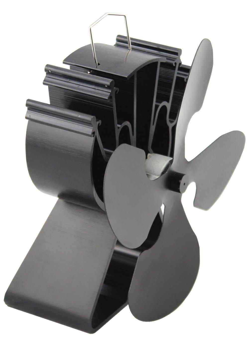 respetuoso con el medio ambiente negro Ventilador para estufa equipmart Limited para madera//le/ña