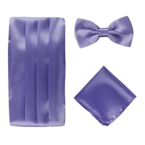 3f6672fec80f9 Panegy Men's Wedding Silk Self-Tie Bow Tie & Cummerbund Set Light Purple:  Amazon.ca: Luggage & Bags