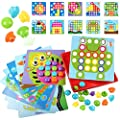 Art Toy Color Matching Mosaic Pegboard Early Learning Educational Toys for Boys and Girls