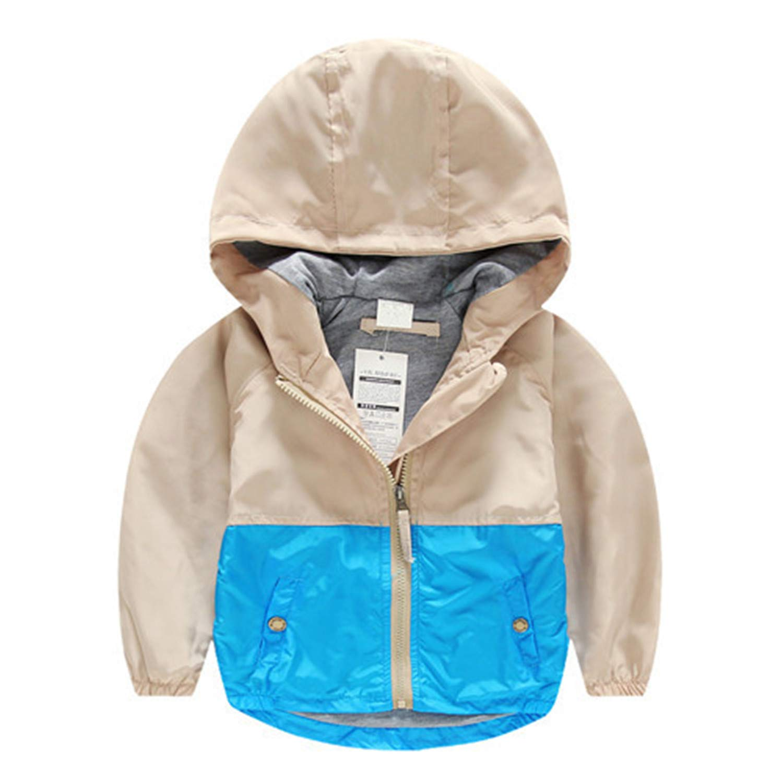 Kids Toddler Boy Jacket Coat Spring Autumn Hooded Windbreaker Outfits Blazer