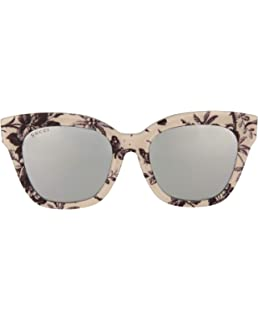 48de8b993 ... Brown Havana Mother Of Pearl Oversized Cat Eye Sunglasses ASIAN FIT  3828. $254.00 · Sunglasses Gucci GG 0029 SA- 010 BLACK/SILVER