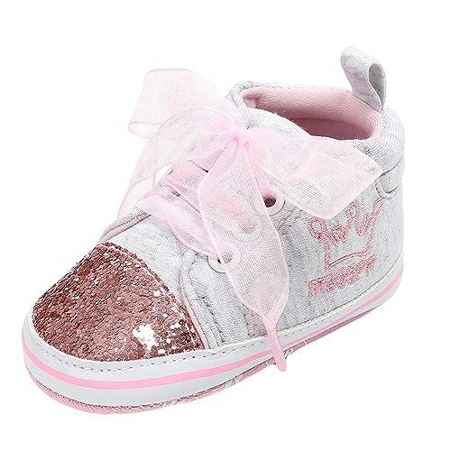 Zapatos Bebé niña Botines Zapatillas Deportivas para bebés recién Nacidos bebé niña niños Vendaje Zapatos Lentejuelas Moda niño pequeño Caminante niño ...