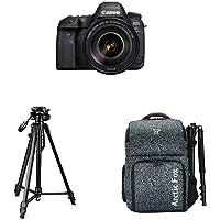 "Canon EOS 6D Mark II 26.2MP Digital SLR Camera + EF24-105 mm f/4L is II USM Lens with Digitek 550LW Tripod + Arctic Fox Camera Bag with Lens, 15.5"" Laptop & Tripod Holder"