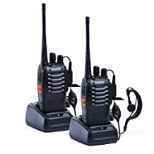Nestling 888S Walkie Talkie 2pcs in One Box with Rechargeable Battery Headphone Wall Charger Long Range 16 Channels Two Way Radio