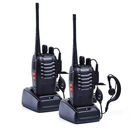 BaoFeng Ammiy Galwad BF-888S Rechargeable Long Range Walkie Talkie with 16 Channels Tow Way Radio, Pack of 2 Walkie Talkies at amazon