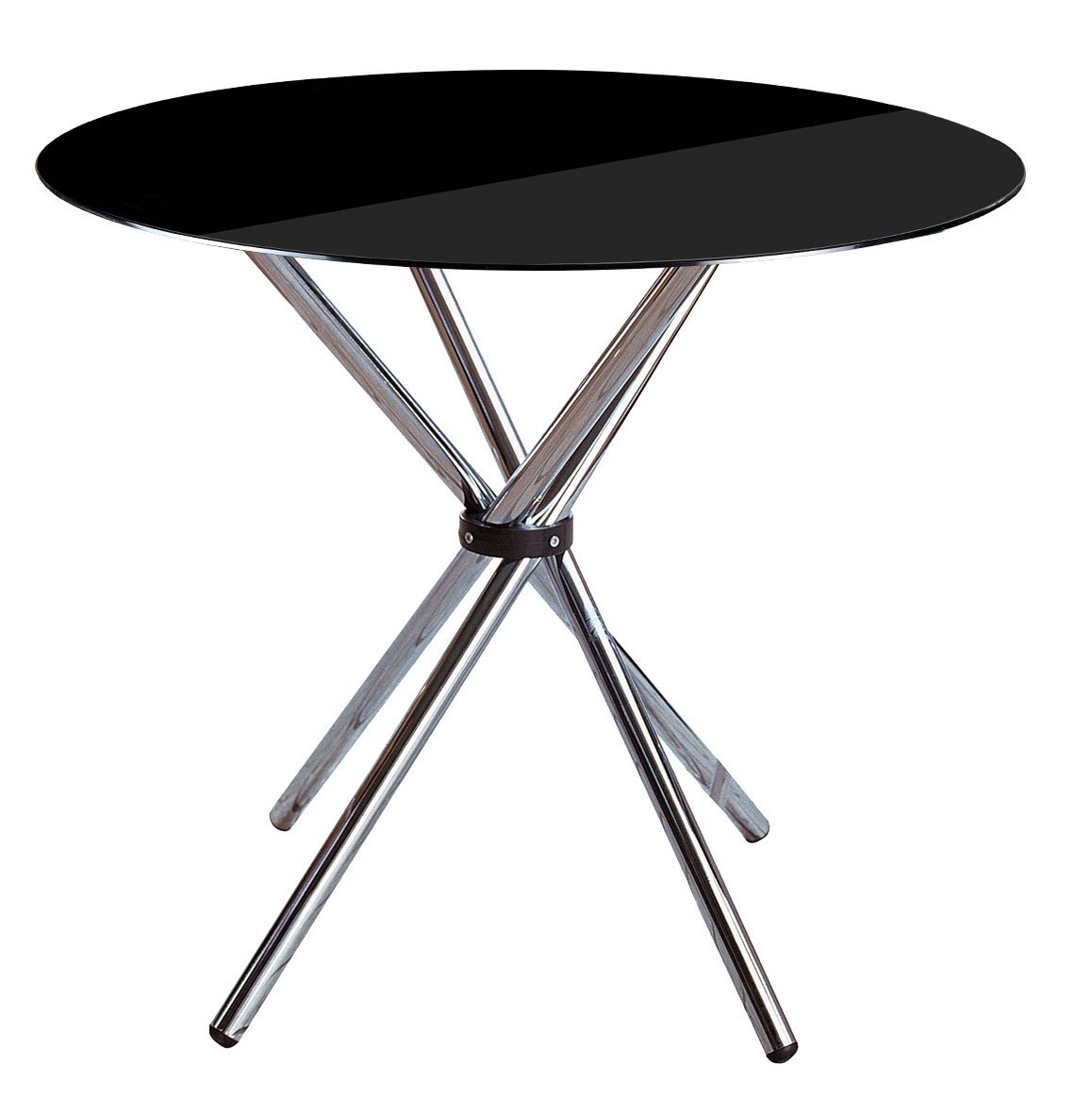 Premier Housewares Round Dining Table - 77 x 90 x 90 cm, Black 2402770