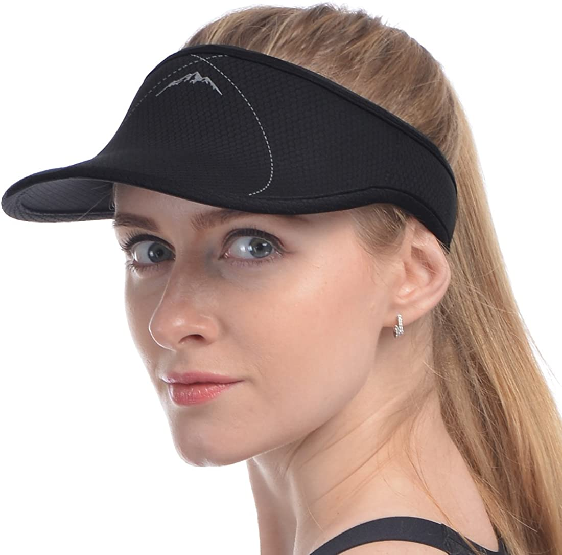 USHAKE Sports Sun Visor for Man or Woman in Golf Running Jogging Tennis Hiking
