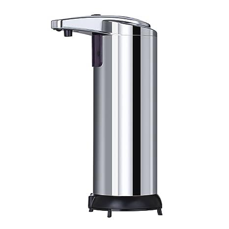 Dispensador de jabón ,Sobotoo 300ml Dispensador de jabón Líquido Automático Sensor 304 Acero inoxidable con