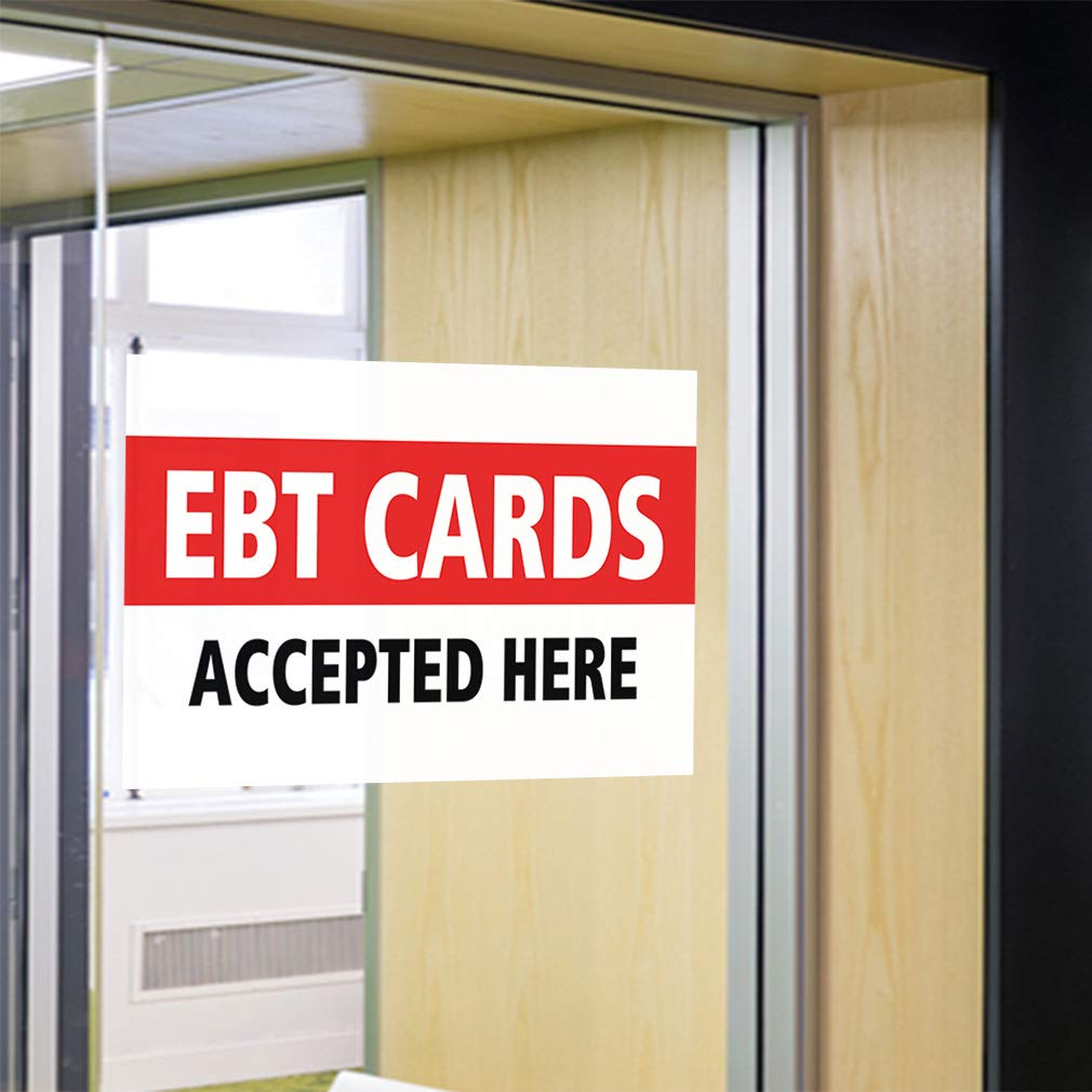 Decal Sticker Multiple Sizes Debt Cards Accepted Here #1 Business Debit Cards Outdoor Store Sign White Set of 2 52inx34in