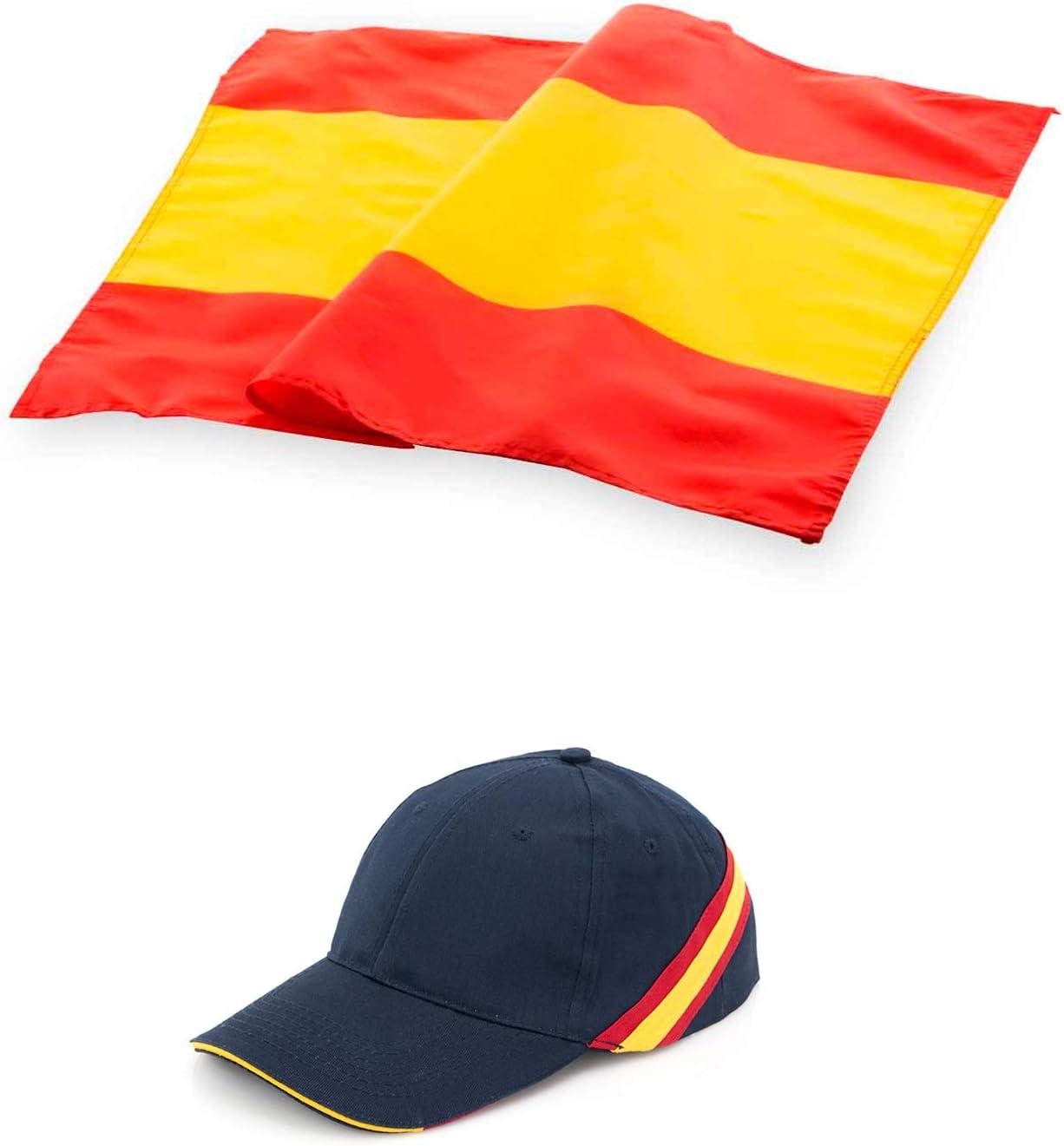 COSAS43 DETALLES PARA INVITADOS BODA-COMUNION-BAUTIZO Gorra de España + Bandera de España.: Amazon.es: Deportes y aire libre