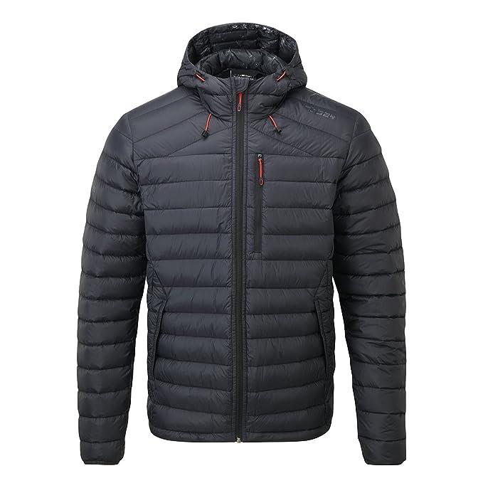 Chaqueta de plumas negra con capucha para hombre, de Tog 24, chaqueta, Hombre, color negro, tamaño X-Large: Amazon.es: Ropa y accesorios