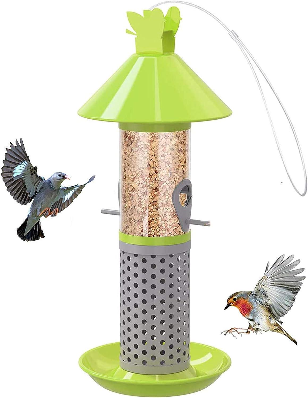 Bird Feeder Hanging Wild Seed Garden Squirrel Yard Outdoor Copper Decoration