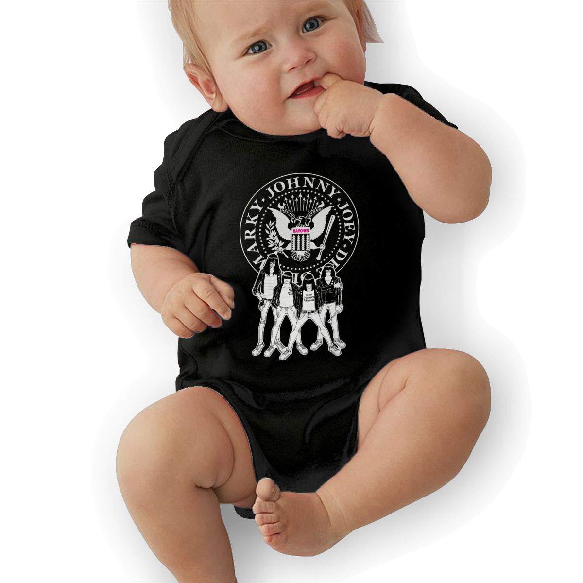 LuckyTagy The Ramones Unisex Classic Toddler Romper Baby BoyVest Black