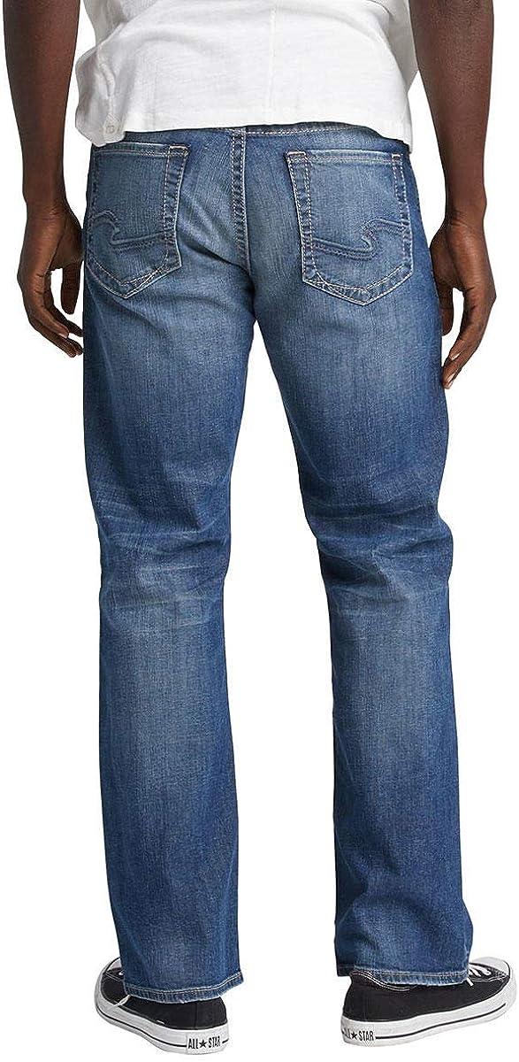Craig Bootcut 19.5 Leg Opening Indigo Denim Men's Size 36x34 Silver Jeans Co