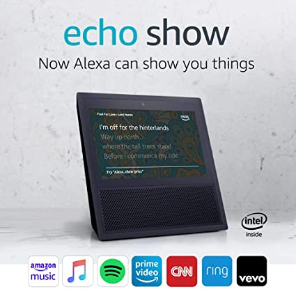 image relating to Printable List of Alexa Commands referred to as Echo Clearly show - 1st Creation Black