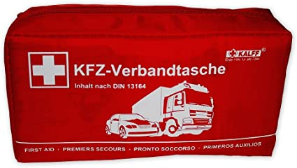 Kalff 7151 Kfz Verbandtasche Din Standard Din 13164 Mit Erste Hilfe Broschüre Auto
