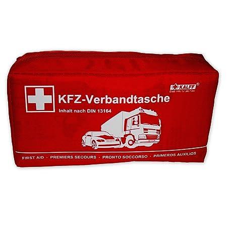 KALFF KFZ-Verbandtasche Standard DIN 13164 mit Erste-Hilfe Broschüre