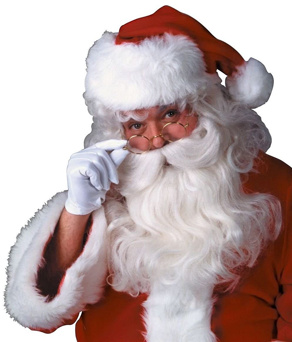 Rubie's Deluxe Santa Beard and Wig Set White One Size Rubies Costumes - Apparel 2303