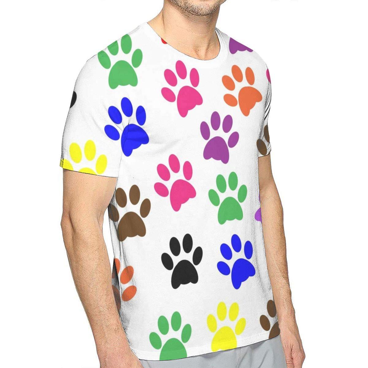 Colorful Rainbow Unicorns Casual Mens Short Sleeve Crew T-Shirt Gift