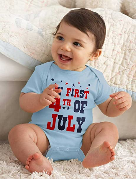 July 4th Infant Newborn Baby Boy Outfit American Flag Baby Bodysuit Toddler Boy Shirts Patriotic Baby Clothes Baby Boy Clothes Liv /& Co.\u2122
