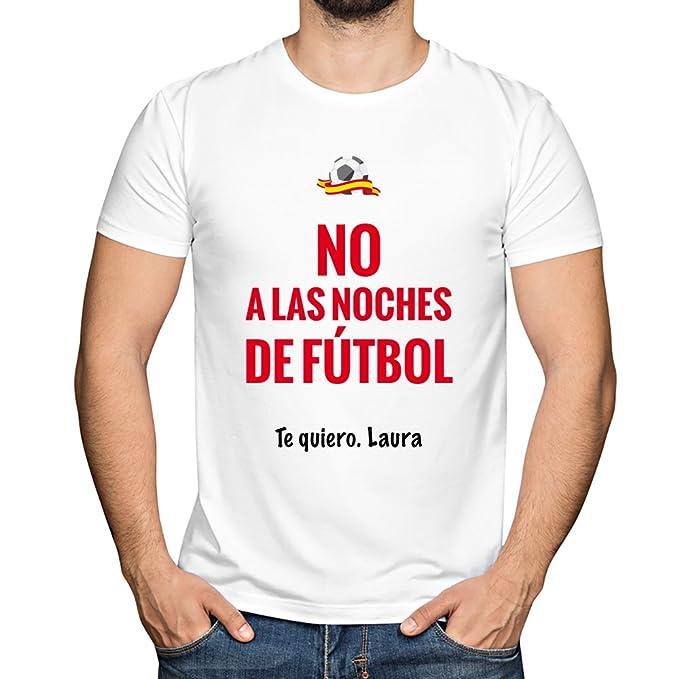 Camiseta personalizada con nombre para animar a la Roja. Regalo personalizado para los amantes del