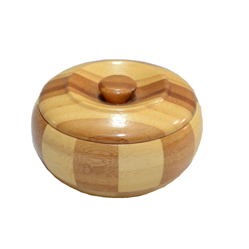 Kinger_Home Wooden ashtray With Lid,Ash Holder for Smokers, Desktop Smoking Ash Tray for Home office Decoration(Lid)(Q1)