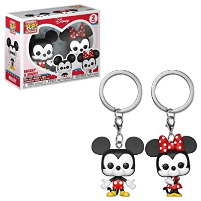 Funko Pop! Keychain: Mickey & Minnie 2 Pack Toy, Multicolor: Toys & Games
