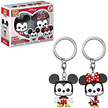 Funko Pop!- Pack llaveros Pocket Pop Disney Mickey Minnie& ...