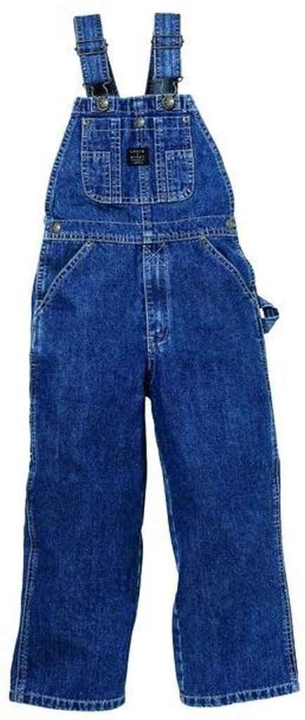 Lakin McKey 225 Kid's Premium Washed Bib Overall Indigo Size 6